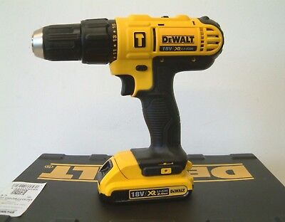 DeWalt DCD776D2 18V XR Compact Combi Drill with 2 x 2Ah batteries