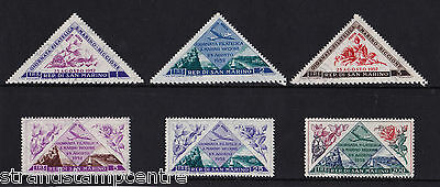 San Marino - 1952 Stamp Day & Phil. Exh. - Mounted Mint - SG 446-51