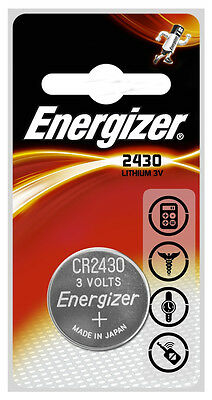 1 x Energizer CR2430 3V Lithium Coin Cell Battery 2430 DL2430 K2430L ECR2430