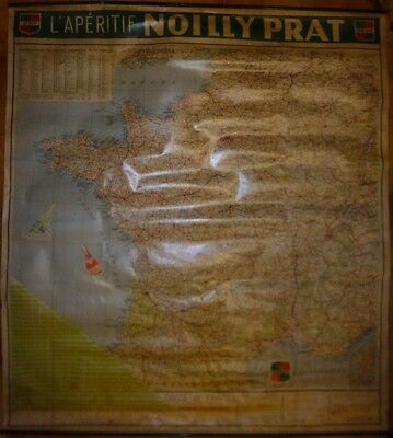 Noilly Prat Carte De France Publicitaire