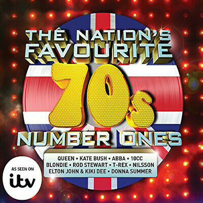 Various Artists : The Nation's Favourite 70s Number Ones CD 3 discs (2015)