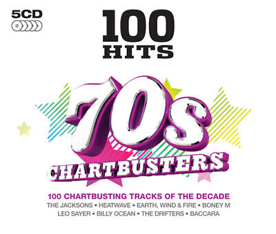 Various Artists : 100 Hits: 70s Chartbusters CD Box Set 5 discs (2013)