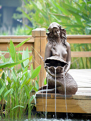 Large Garden Water Fountain Sculpture Mermaid 5w Solar pump