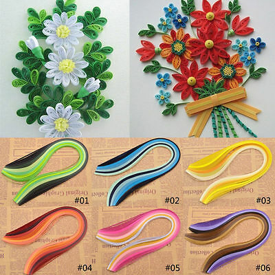 120 Strips 3mm*390mm Mutil-color Origami Quilling Paper Craft Art DIY Papercraft