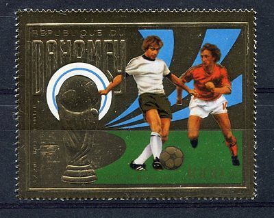 s5099) DAHOMEY 1974 MNH** WC Football - Coppa Mondo Calcio 1v GOLD