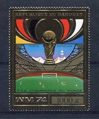 s5104) DAHOMEY 1974 MNH** WC Football - Coppa Mondo Calcio 1v GOLD - Winner