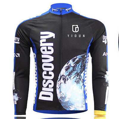 Discovery Long Sleeve Men's Cycling Jerseys MTB Road Bicycle Jersey Jacket Top