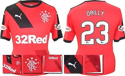 *15 / 16 - Puma ; Rangers Away Shirt Ss + Patches / Dailly 23 = Size*