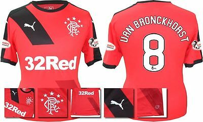 *15 / 16 - Puma ; Rangers Away Shirt Ss + Patches / Van Bronckhorst 8 = Size*