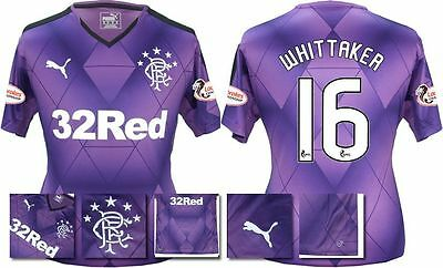 *15 / 16 - PUMA ; RANGERS 3rd KIT SHIRT SS + PATCHES / WHITTAKER 16 = SIZE*