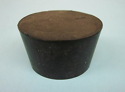 NEW Solid #9 tapered rubber stopper plug (lot of 2)
