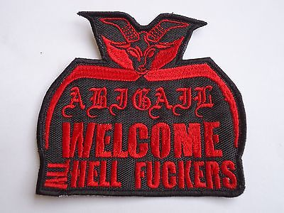 Abigail Welcome To Hell Embroidered Patch