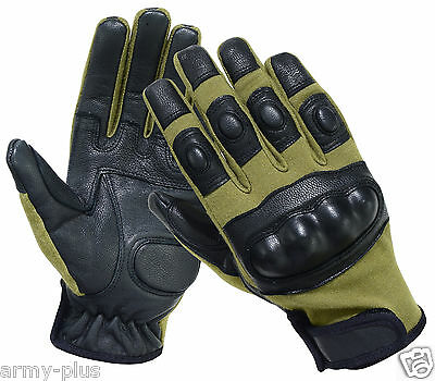 Tactical Nomex Fire Resistant Hard Knuckle Assault Combat Shooting Gloves