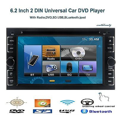 "6.2"" Double 2 Din In Dash Car Radio Stereo CD DVD Player Bluetooth TV Ipod Touch"