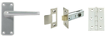 Aluminium Door Handle Set Packs Latch, Internal Lock & Bathroom Locks Available