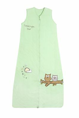 Baby Summer Sleeping Bag Mint Owl 0.5 Tog - newborn -12-36months