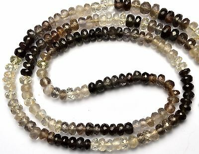 Natural Multicolor Chrysoberyl Cats Eye Facet 4-5MM Rondelle Beads Necklace 16""