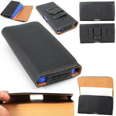 Tan Horizontal Leather Belt Clip Case Pouch for Apple iPhone (Fit w/ Slim Case)