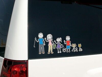 Family Car Sticker-Compact Kit Coloured Set