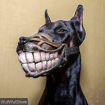 Smile MUZZLE,Funny,Teeth,Werewolf MUZZLE for dogs,DOBERMAN,funny dog accessory