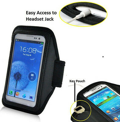 Running Sports Armband w/Key Pouch For Samsung Galaxy Note 3 4 5 , S6 Edge Plus