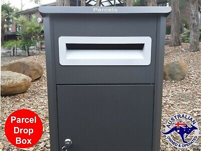 Parcel Letterbox Mail Drop Box Mailbox Post Monument Grey Parcelbox Pier New