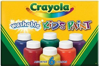 Crayola Washable Kid's Paint (6 count) Size: Pack of 1 54-1204 Made in America..