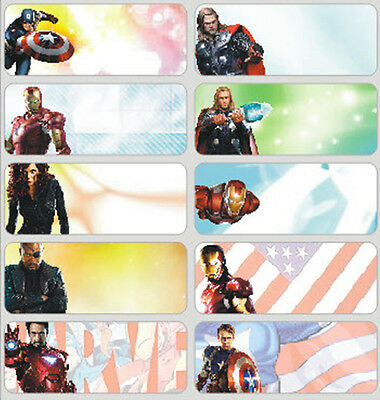 18, 36, 48 avengers Personalised vinyl name Label Sticker 4 School, Childcare