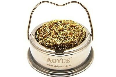 Aoyue Soldering Iron Tip Cleaner with Brass wire sponge,no water needed BRANDNEW