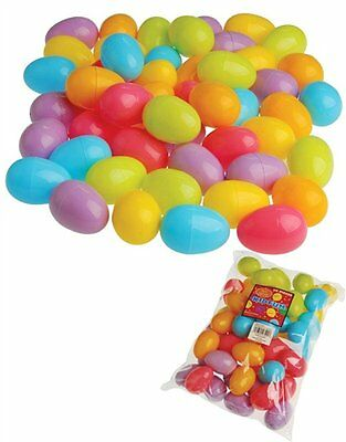 Plastic Easter Eggs (50 per order), Assorted Colors by US Toy ( AOI ) EEG XTS
