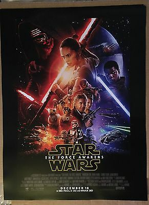 Star Wars the Force Awakens US Poster Authentic Premiere Movie Poster