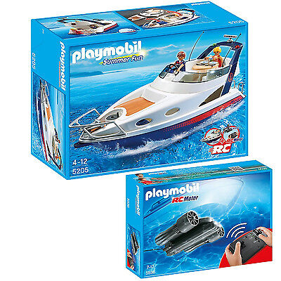 Playmobil - Summer Fun - Set 5205 Luxusyacht + 5536 RC-Unterwassermotor -NEU OVP