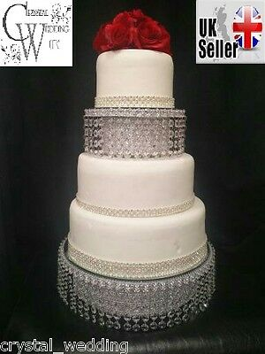Crystal wedding cake stand & separator set -  round or square