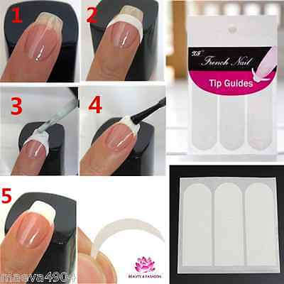 Guide Autocollant Pour French Manucure  Faux Ongles Gel Uv