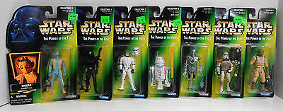 Seven 1996 Kenner Star Wars the Power of the Force Action Figure Bossk R5-D4 MOC
