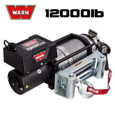 Warn Tabor 12000Lb / 5443Kg 12V Volt Electric Winch Recovery Wire Steel Cable