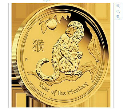 Year of the Monkey Gold Coin