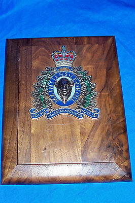 Royal Canadian Mounted Police Plaque Wood Sign Award Canada Mounties The Force
