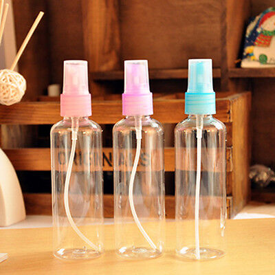 3pcs 100ML Mini Small Empty Plastic Perfume Transparent Atomizer Spray Bottles