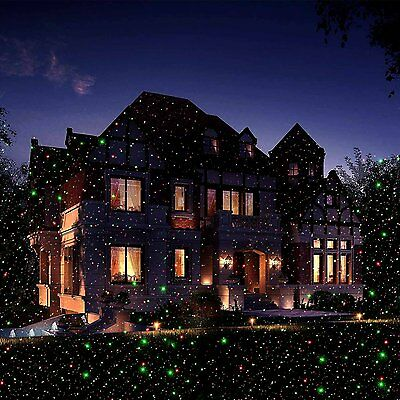 Waterproof Outdoor Home Lights Laser Projector Red Green Moving Xmas Stage Light