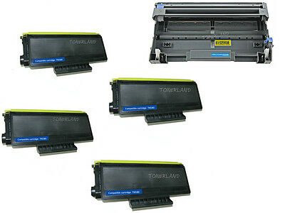 4x TN580 Toner+ DR520 Drum For Brother HL-5240 5250DN MFC-8460N 8660DN DCP-8060