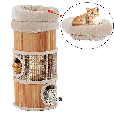 PawHut Kitty Tree Scratching Top Cando Post Cat House Furniture Pet Play