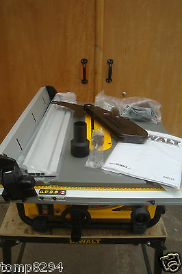 "Dewalt 110V 1300 Watt Dw745 250Mm 10"" Table Saw + Free 80T Trend Blade"
