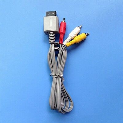6FT 1.8m Audio Video AV Aux Composite 3RCA Cable Cord Nintendo Wii Console Game