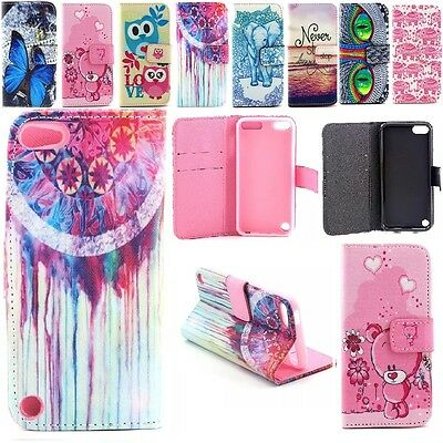 Cute Wallet Flip Leather Stand Card Cases Cover For Apple iPod Touch 5th 6th Gen