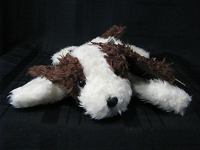 Russ Berrie Bean Bag Plush Brown & Beige Floppy Spaniel Puppy Dog Dooby New