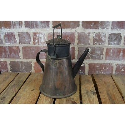 """Old Hand Forged Copper Kettle Pitcher 13 1/2"""" Tall"""
