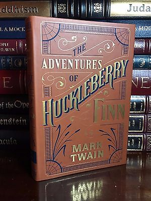Adventures of Huckleberry Finn by Twain Brand New Leather Bound Collectible