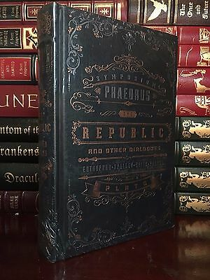 The Republic & Dialogues by Plato New Sealed Leather Bound Collectible 1st Ed.