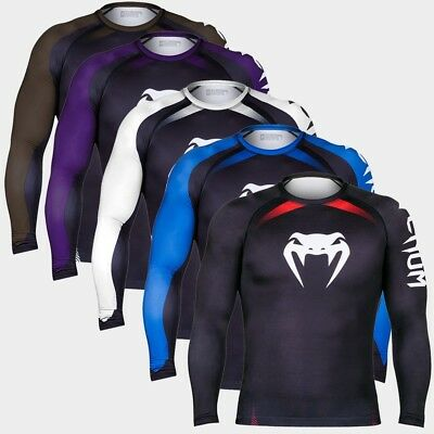 Venum Rashguard No Gi Long Sleeves schwarz S M L XL 2XL MMA Grappling Training